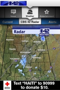 cbs42 app weather