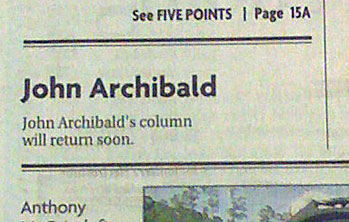 Birmingham News - John Archibald