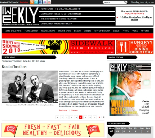 Birmingham Weekly 2010