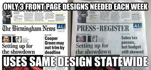 Dual newspapers, Oct. 3, 2012