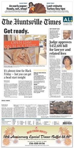 Huntsville Times Nov. 21, 2012
