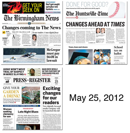May 25, 2012 newspapers