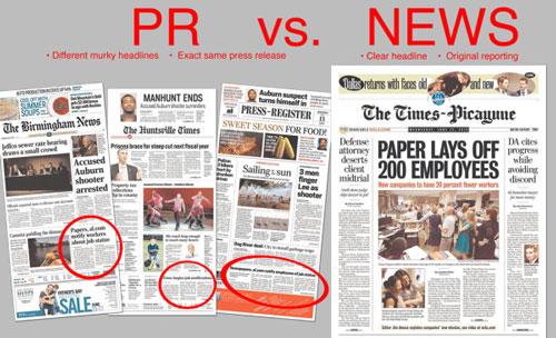 PR vs. news