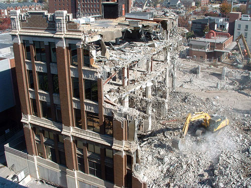 Birmingham News building demolition